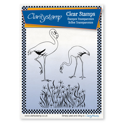 Flamingoes <br/>Unmounted Clear Stamp Set