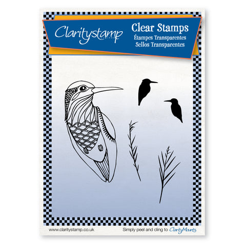 Kingfishers & Reeds <br/>Unmounted Clear Stamp Set