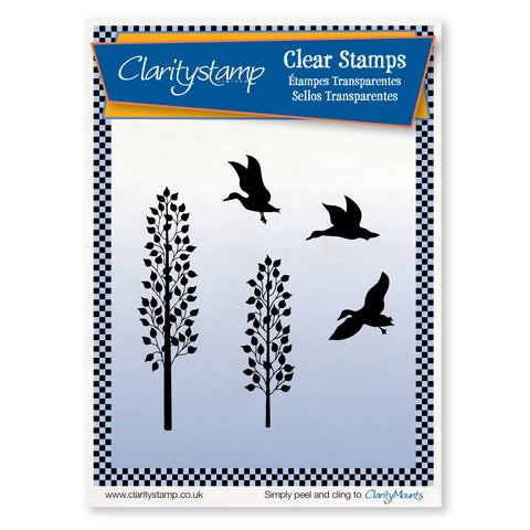 Ducks & Saplings <br/>Unmounted Clear Stamp Set