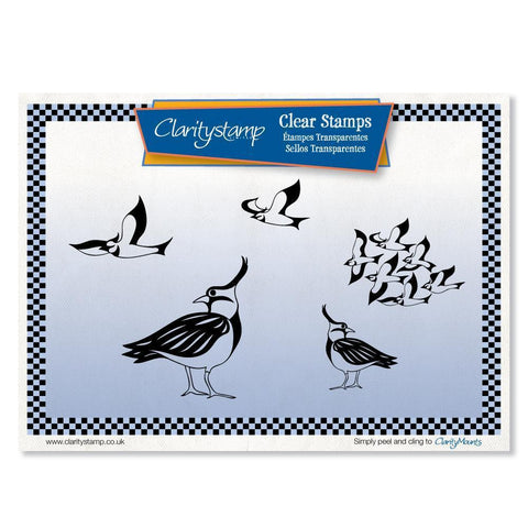 Lapwings + MASK Unmounted Clear Stamp Set
