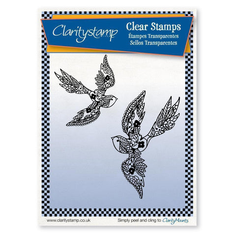 Lacy Swallows <br/>Unmounted Clear Stamp Set