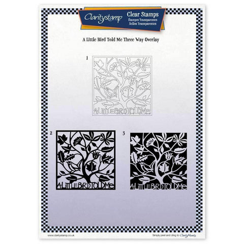 A Little Bird Told Me Three Way Overlay <br/>Unmounted Clear Stamp Set
