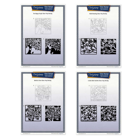 A Little Bird Three Way Overlay Collection <br/>Unmounted Clear Stamp Sets