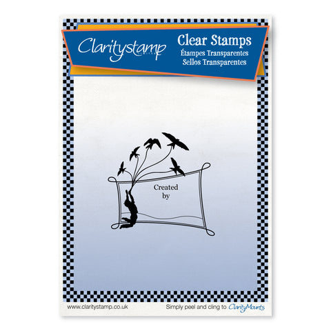High Flyer Stamp - 'Created By' <br/>Unmounted Clear Stamp