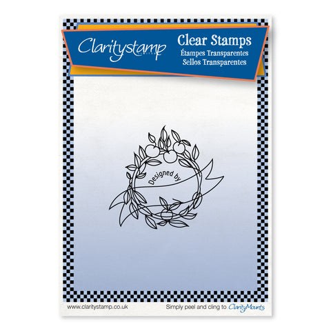 Cherry on Top Stamp - 'Designed By' <br/>Unmounted Clear Stamp