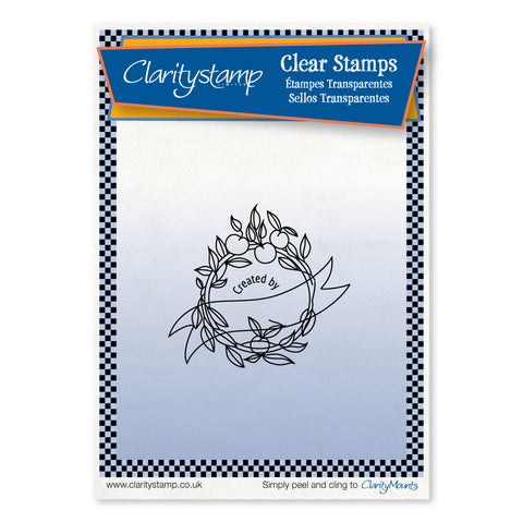 Cherry on Top Stamp - 'Created By' <br/>Unmounted Clear Stamp