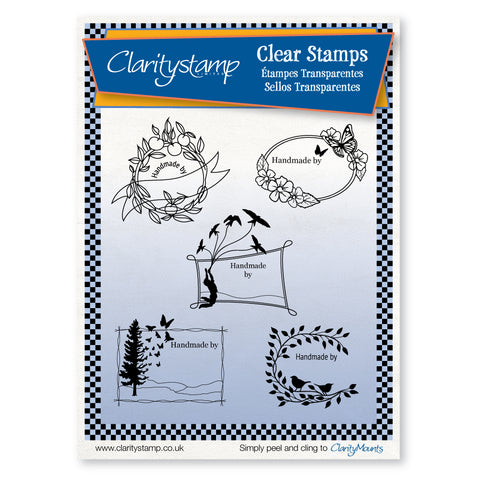 Handmade By - Blanks <br/>Unmounted Clear Stamp Set