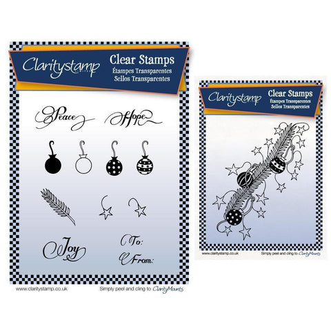 Christmas Sprig & Decorations Clear Stamp Set