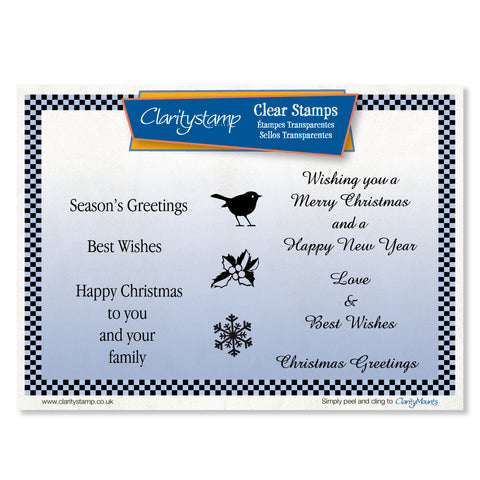 Christmas Greetings Unmounted Clear Stamp Set