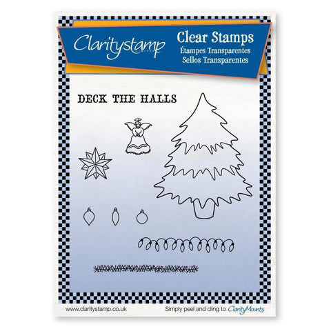 Christmas Tree + MASK <br/>Unmounted Clear Stamp Set