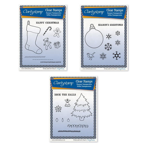 Christmas Stocking, Bauble & Tree + MASKS <br/>Unmounted Stamp Sets Bundle