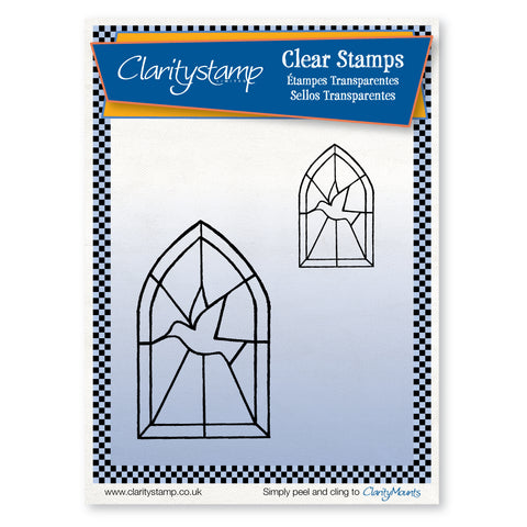Dove Windows <br/>Unmounted Clear Stamp Set