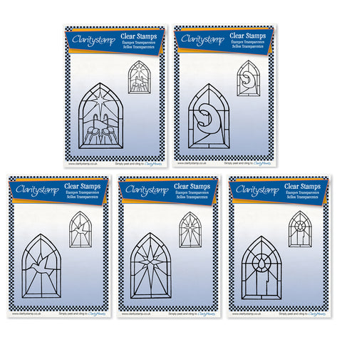 Christmas Windows Bundle <br/>Unmounted Clear Stamp Sets