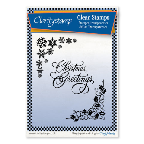 Christmas Corners <br/>Unmounted Clear Stamp Set