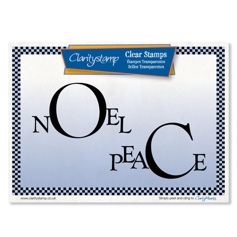 Peace & Noel Frames <br/>Unmounted Clear Stamp Set