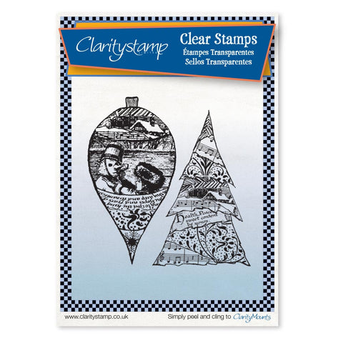 Bauble & Tree Collage <br/>Unmounted Clear Stamp Set