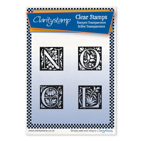 Noel Letters <br/>Unmounted Clear Stamp Set