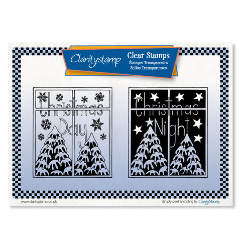 Christmas Day & Night <br/>Unmounted Clear Stamp Set