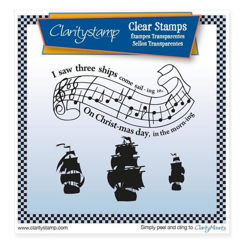 I Saw Three Ships <br/>Unmounted Clear Stamp Set