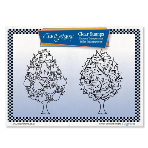 Holly & Pear Trees <br/>Unmounted Clear Stamp Set