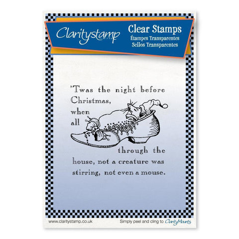 Twas the Night 1 - Shoe - Fine Line <br/>Unmounted Clear Stamp