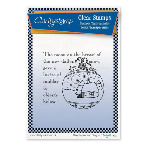Twas the Night 4 - Bauble - Fine Line <br/>Unmounted Clear Stamp