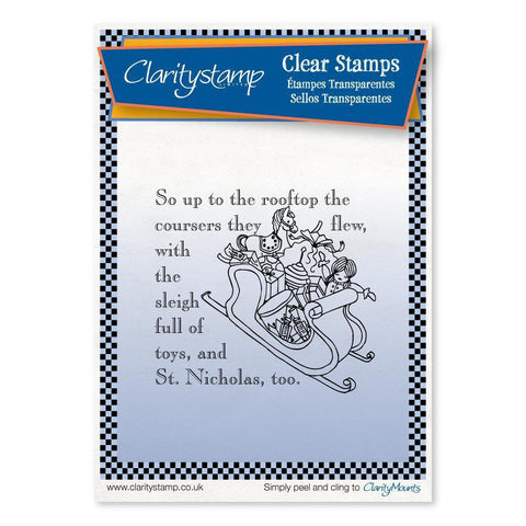 Twas the Night 8 - Toys - Fine Line <br/>Unmounted Clear Stamp