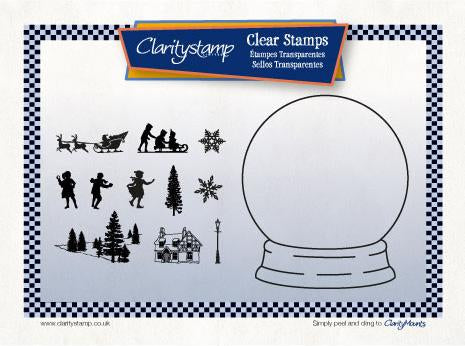 Snow Globe Outline + MASK <br/>Unmounted Clear Stamp Set