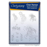 Christmas Carol 1 - Angels & Shepherds <br/>Unmounted Clear Stamp Set