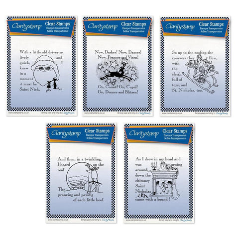 Twas the Night 6-10 - Set 2 - Fine Line <br/>Unmounted Clear Stamp Set