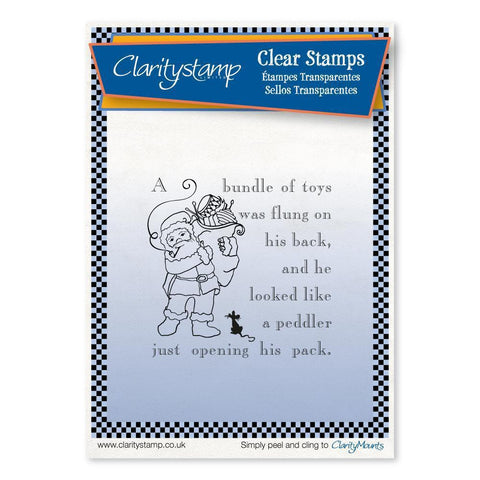 Twas the Night 11 - Santa's Pack - Fine Line <br/>Unmounted Clear Stamp