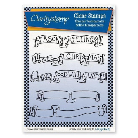 Christmas Banners Unmounted Clear Stamp Set