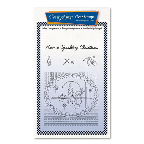 Tina's Christmas Centrepiece <br/>Unmounted Clear Stamp Set