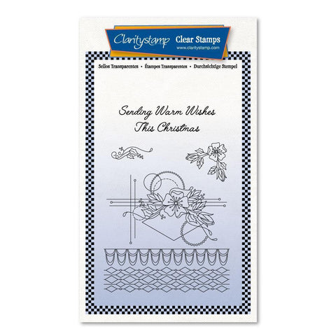 Tina's Christmas Rose <br/>Unmounted Clear Stamp Set