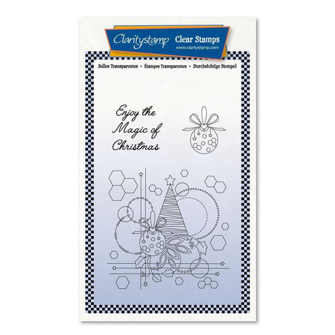 Tina's Christmas Tree & Baubles Unmounted Clear Stamp Set