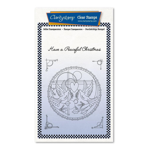 Tina's Turtle Doves Unmounted Clear Stamp Set