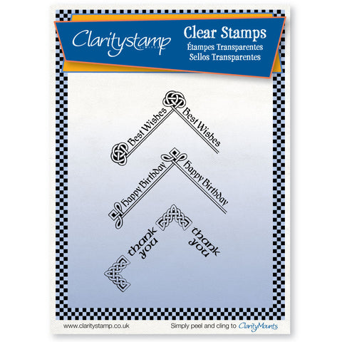 Celtic Text Corners <br/>Unmounted Clear Stamp Set