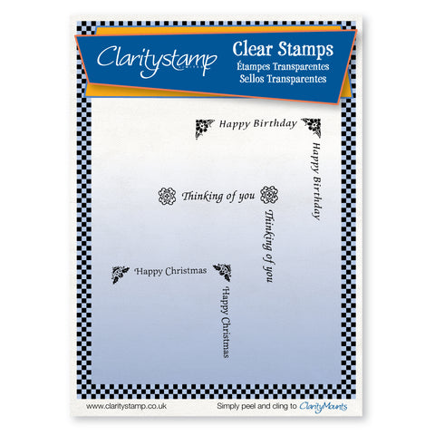 Text Box Corners <br/>Unmounted Clear Stamp Set