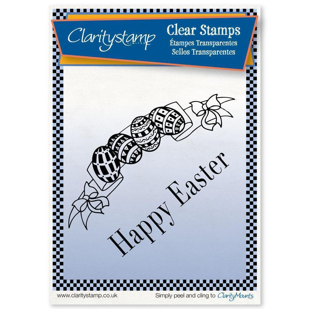 Easter Banner + MASK Unmounted Clear Stamp Set