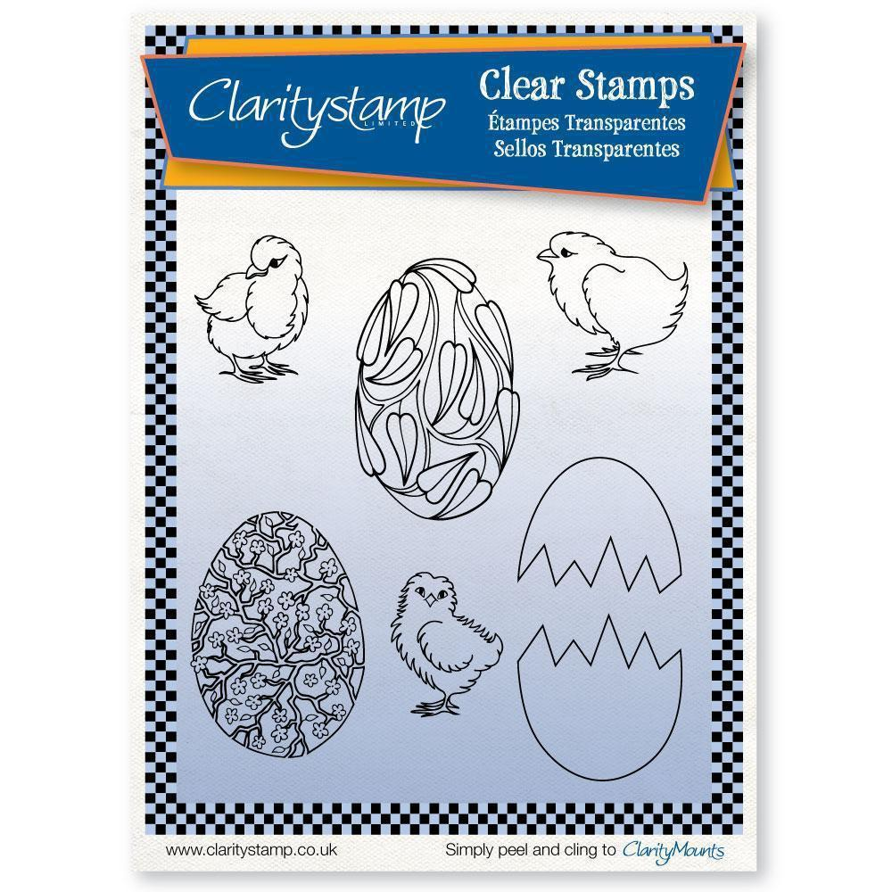 Chicks & Eggs + MASKS <br/>Unmounted Clear Stamp Set