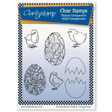 Chicks & Eggs + MASKS Unmounted Clear Stamp Set