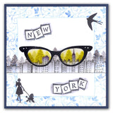 Ladies Glasses + MASK <br/>Unmounted Clear Stamp Set