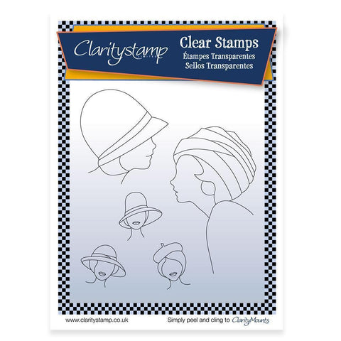 Hats 2 + MASK <br/>Unmounted Clear Stamp Set