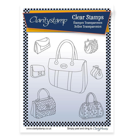 Handbags & Purses + MASK <br/>Unmounted Clear Stamp Set