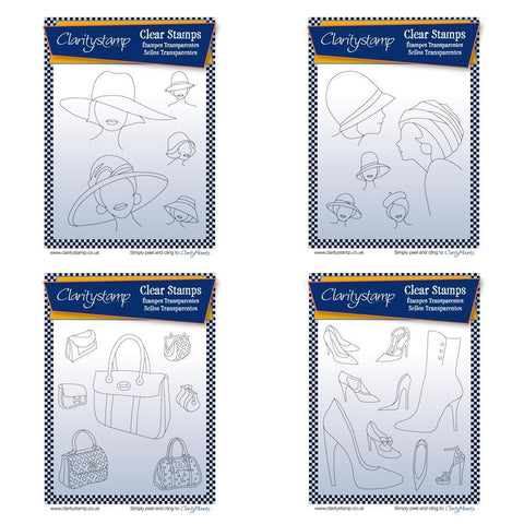 Hats, Bags & Shoes Bundle + MASKS <br/>Unmounted Clear Stamp Sets