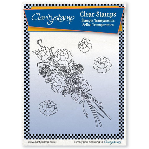 Silk Ribbons Bouquet + MASK Unmounted Clear Stamp Set