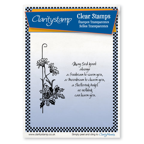 Floral Crook <br/>Unmounted Clear Stamp Set