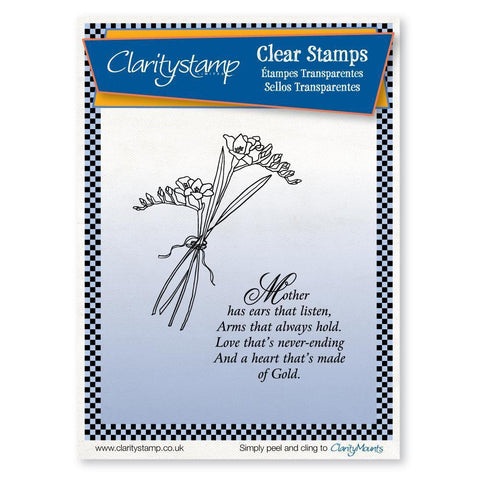 Freesias & Mother Verse Unmounted Clear Stamp Set