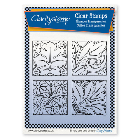 Floral Tiles <br/>Unmounted Clear Stamp Set