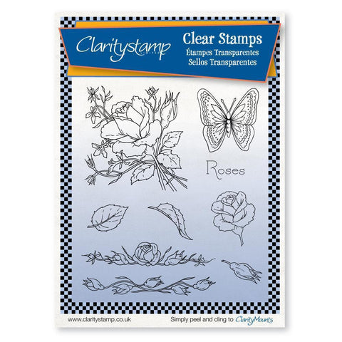Jayne's Roses Unmounted Clear Stamp Set